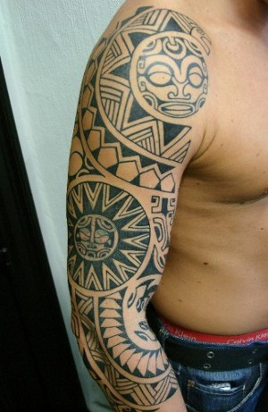Lower Arm Tattoos Looking for unique Tattoos? Polynesian shoulder cap