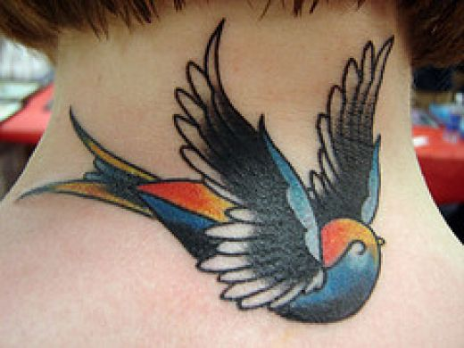 People get swallow, or bluebird tattoos
