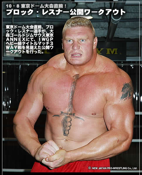 Brock Lesnar's Sword tattoos