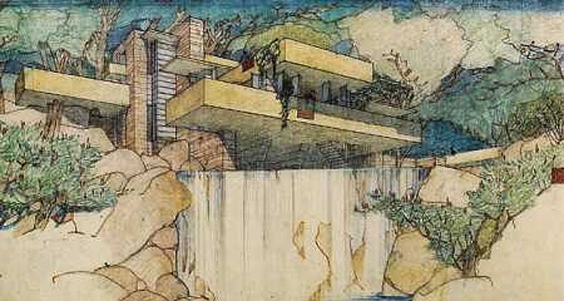 he oincidental andy built wright fallingwater a frank lloyd wright masterwork. Black Bedroom Furniture Sets. Home Design Ideas