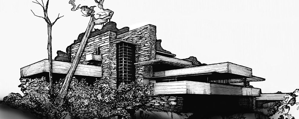 Image courtesy of  http   kingygraphicdesignhistory blogspot com Falling Water Blueprints