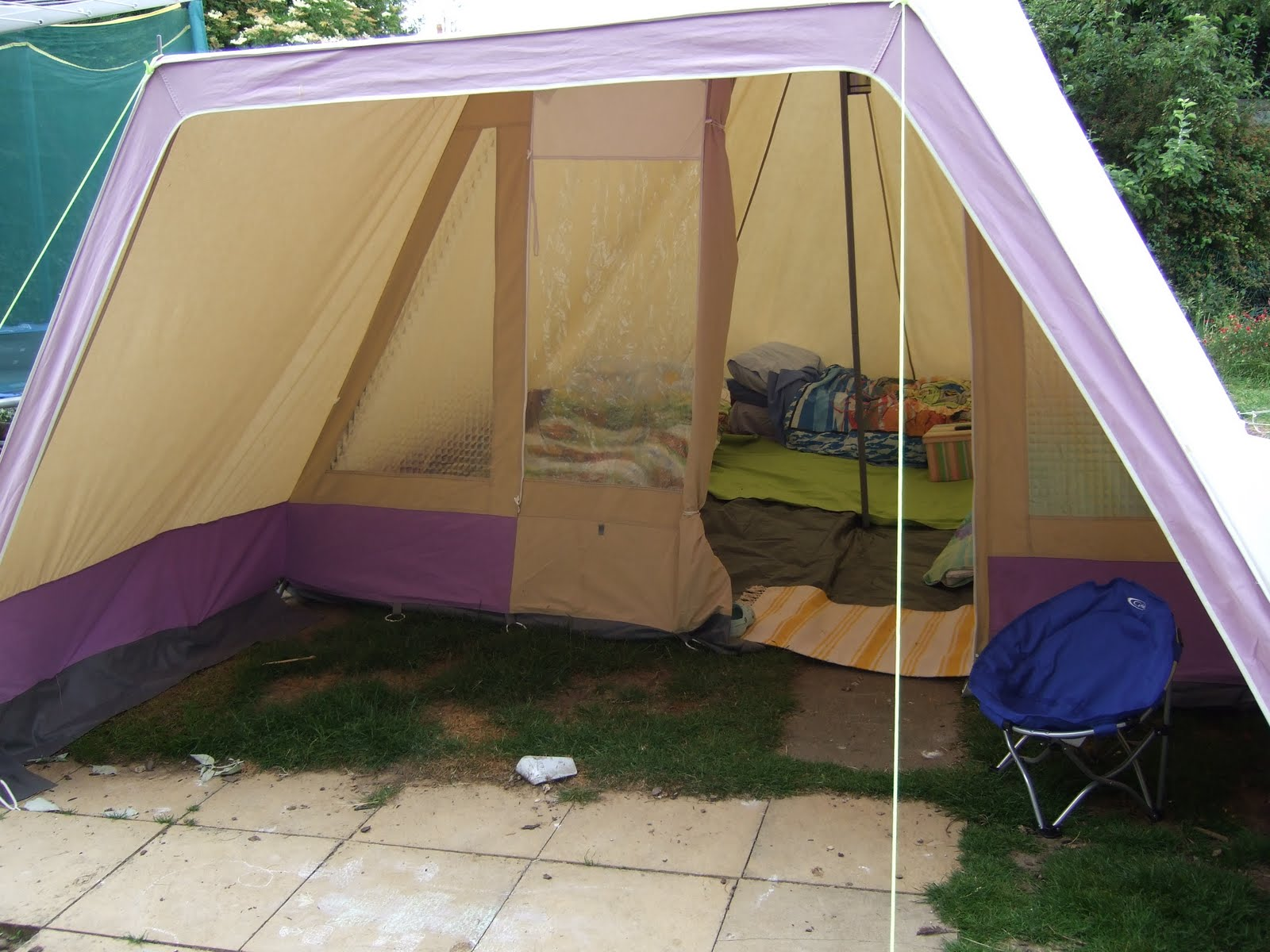 So I took them out and covered the whole of the floor with groundsheet. And the boys and I c&ed in the garden. Although I had showered her with the ... & Owl Family Diary: A New Tent