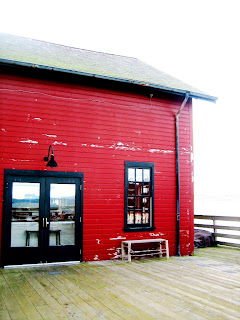 Image of red building Coupeville pier