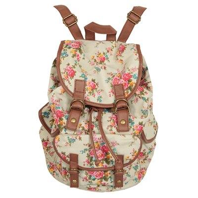 new yorker rucksack blumen