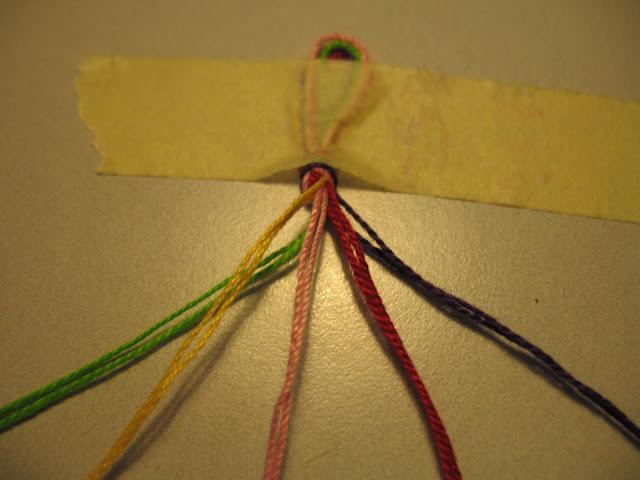 Braccialetti di cotone tutorial 03 filo feltro e fantasia for Nodo invisibile per unire due fili di lana