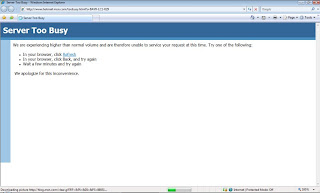 Hotmail Server Too Busy Screen