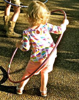 hoola-hoop toddler