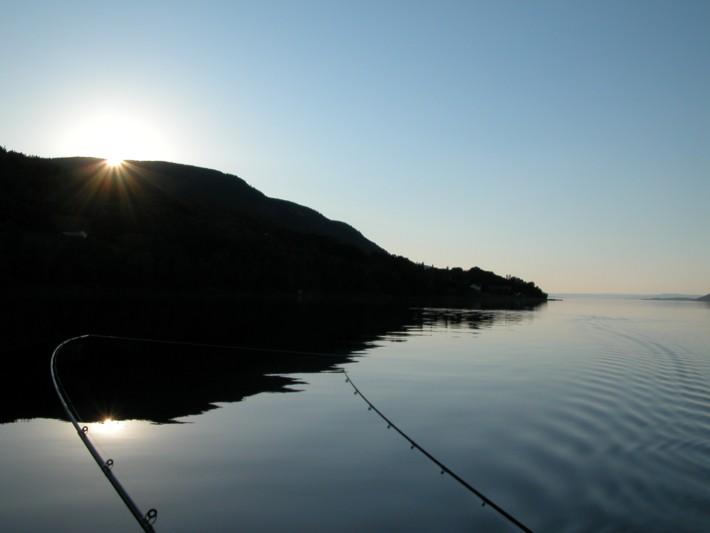 Nydelig natt på Mjøsa 24 juni-09