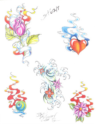 Tattoo Flash Ed Lee Set 4