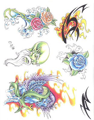 Tattoo Flash Ed Lee Set 6