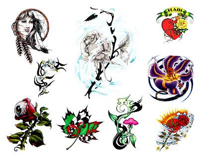 Japanese Flash Tattoo Gallery