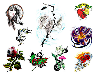 Japanese Flash Tattoo Gallery