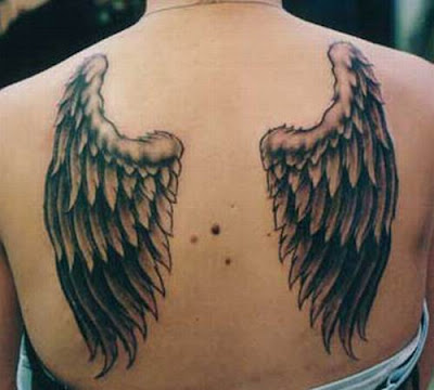 angel wings women tattoo designs