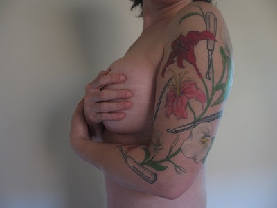 Labels: Sexy Women Flower Tattoo Design