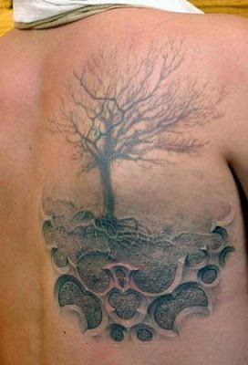 3D Tattoos Design - Weird Tattoo Art on Body