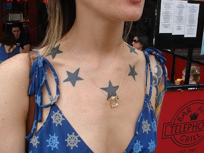 Compared to other star tattoos, moon star tattoos have little symbolic