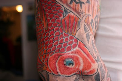 Arm Tattoo Design, Japanese Koi Fish Tattoo