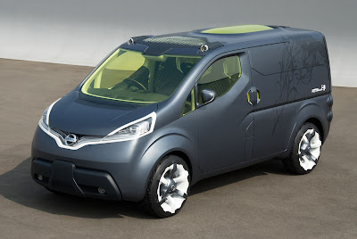 Nissan NV200 - Nissan shows new sketch of a commercial electric concept