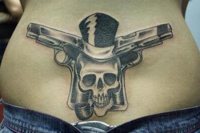 best tattoo supply company. cross bone tattoos guns tattoo design