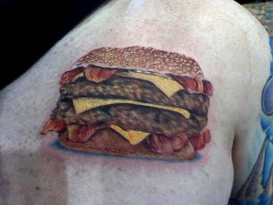 tattoos food, tattoo art on