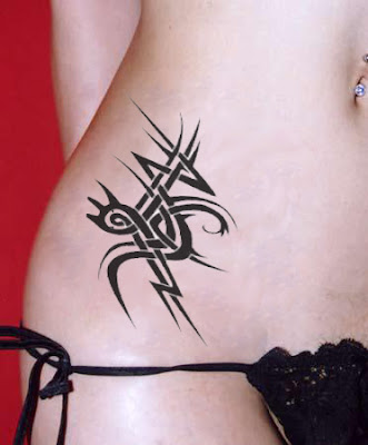 tribal tattoo, rib tattoo sexy girls