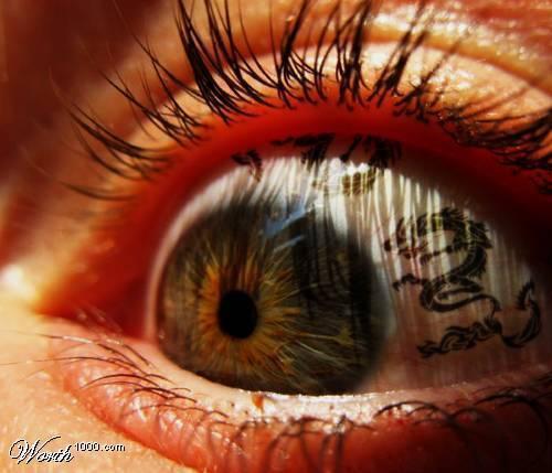 dragon eye tattoo design