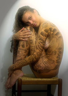 full body tattoo sexy girls, women tattoo design on body 07