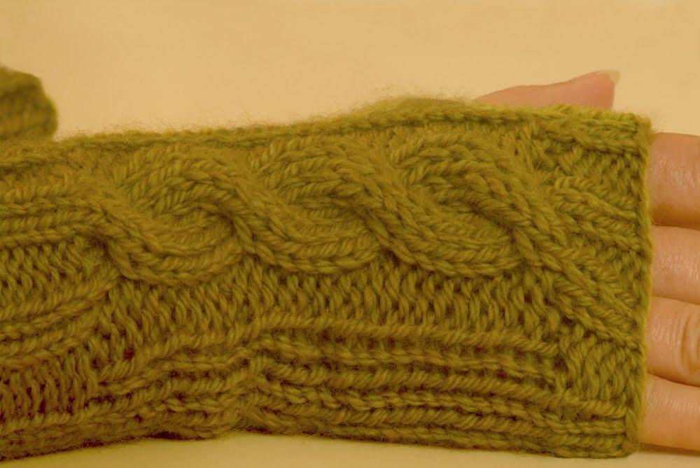 Wrist Warmer Knitting Pattern : Bijouxboutique: New Cable Knit Wrist Warmers Knitting Pattern