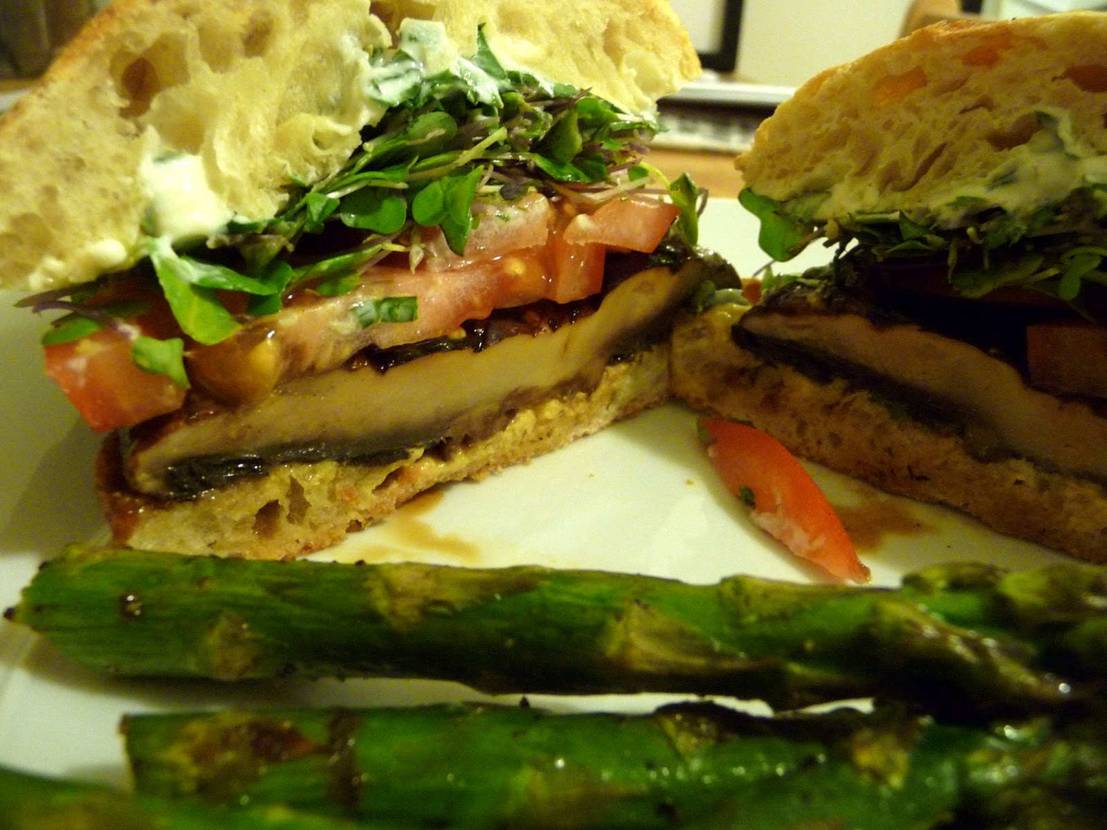 Simply Scrumptious: Portobello and Goat Cheese Burger