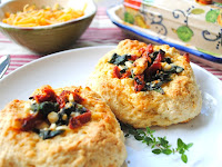 Scones With Spinach, Feta And Sun-dried Tomatoes