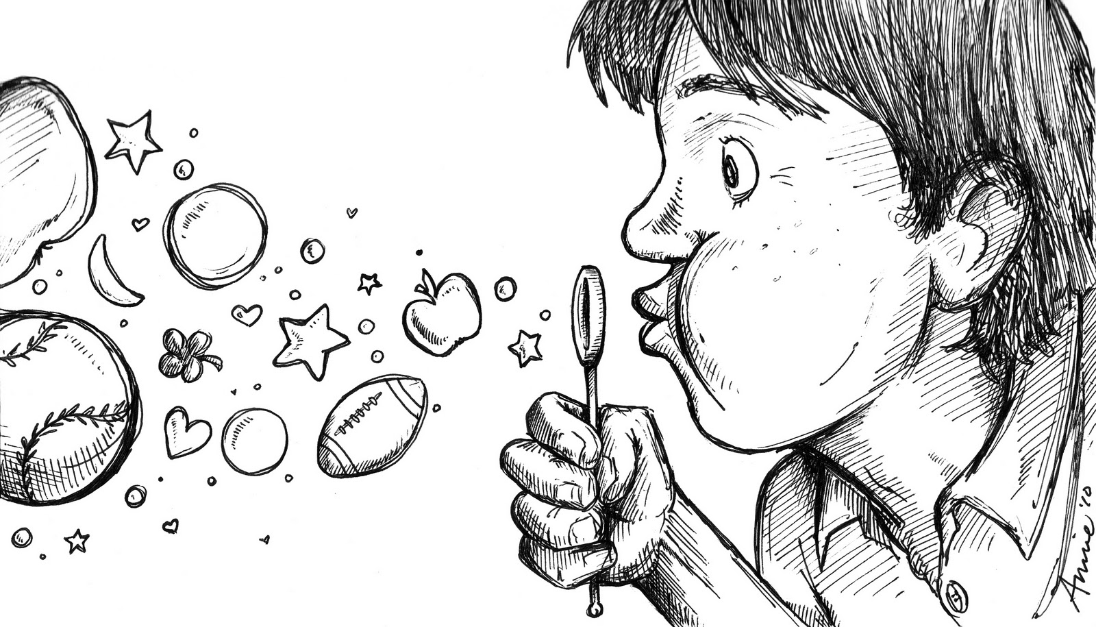 Blowing Bubbles Drawing Bubbles