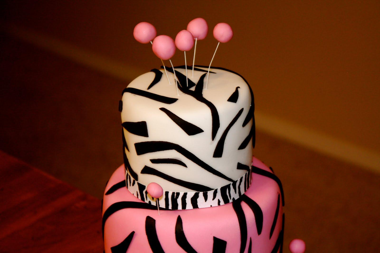 Bumble Cakes Zebra Mini Birthday Cake