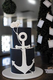Nautical by Nature blog: Nautical Wedding Cakes