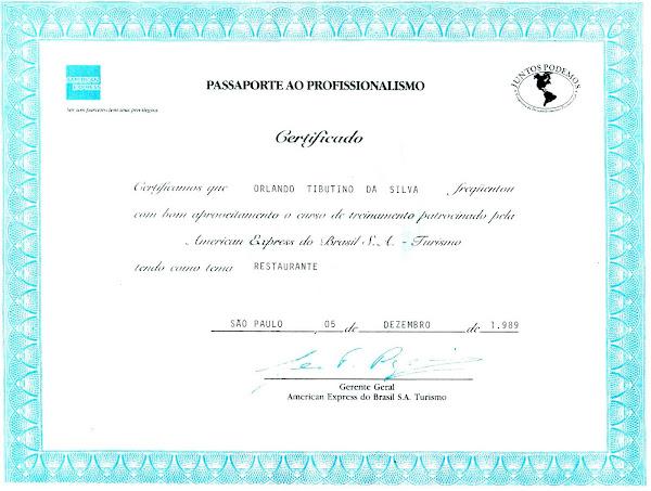 Certificado Profissional