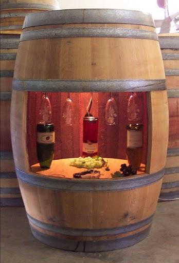 Decora o de a a z ton is barris de madeira ideias 2 for Barriles de madera bar