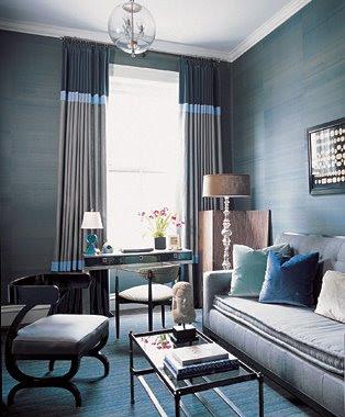 decoracao cinza e azul
