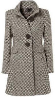 Brown Birdseye Coat | Miss Selfridge | Womens | Fashion | Clothing