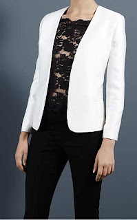 Stella McCartney | Target | Designers For Target Collection | Collarless Jacket | Lace Tee Shirt | Tight Mesh Insert Trouser