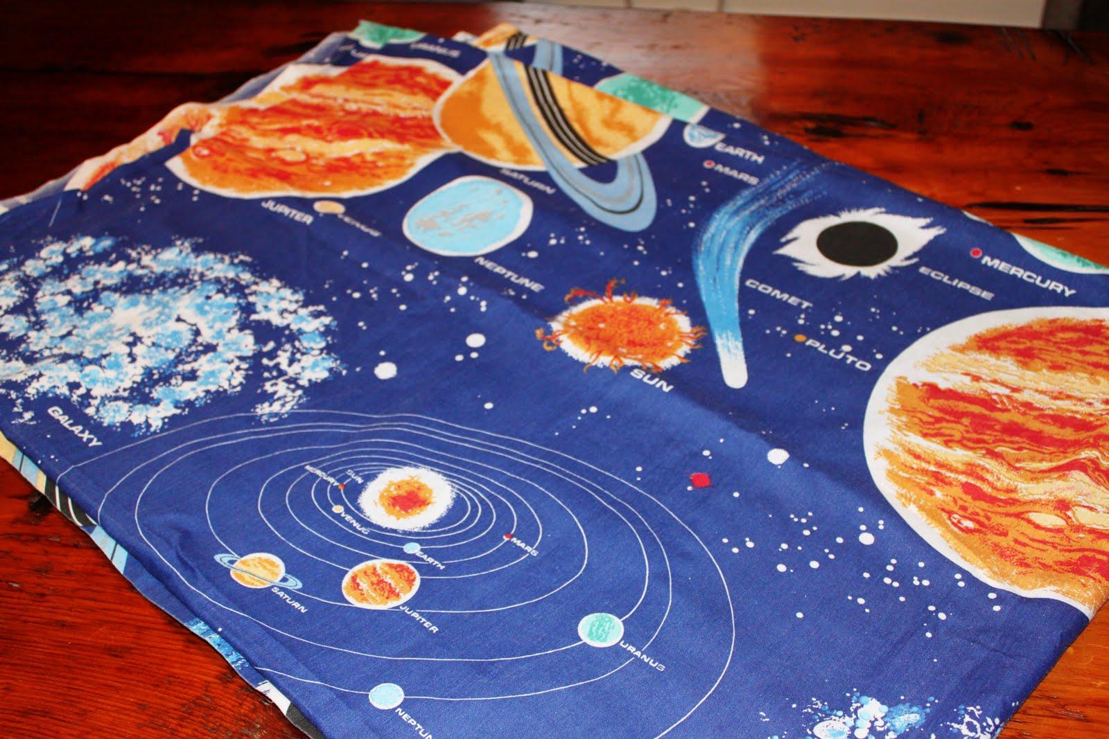 Vintage pollyanna custom solar system wall art from for Solar system fabric