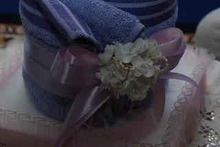 Hantaran Towel Telekung Baju Bunga Telur Gubahan