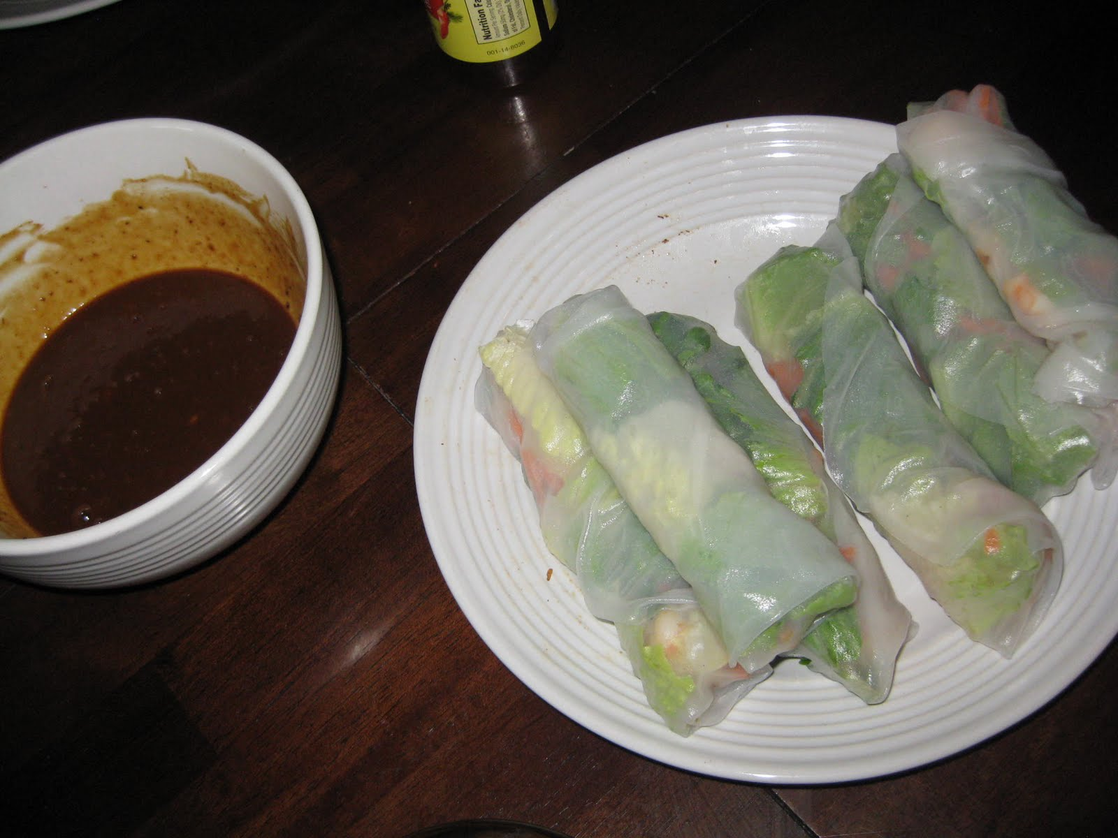... Goi Cuon (Vietnamese Fresh Spring Rolls) with Hoisin Peanut Dipping