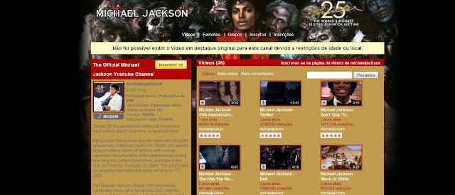 The Official Michael Jackson Youtube Channel