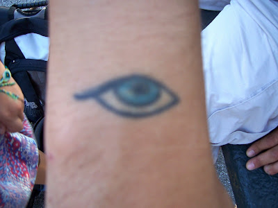 evil eye tattoo designs. The eye represents good luck.
