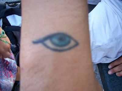 evil eye tattoo designs. The eye represents good luck.