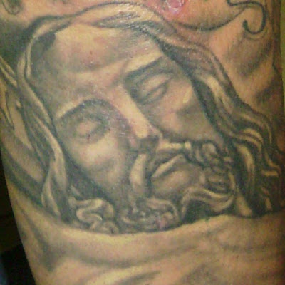 Religious imagery is among the most popular of themes in tattoo art.