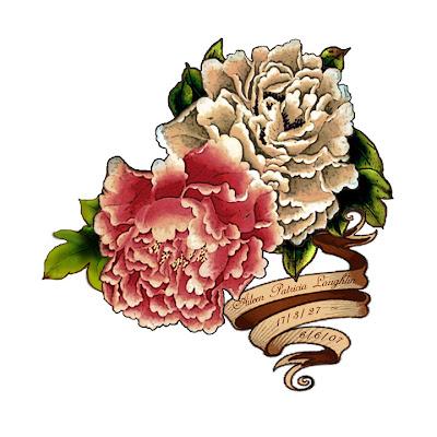 peony flower tattoo. tattoo artist referred to.