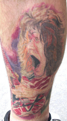 Tattoosday a tattoo blog nick 39 s rocking leg tattoos for Tattoo van halen