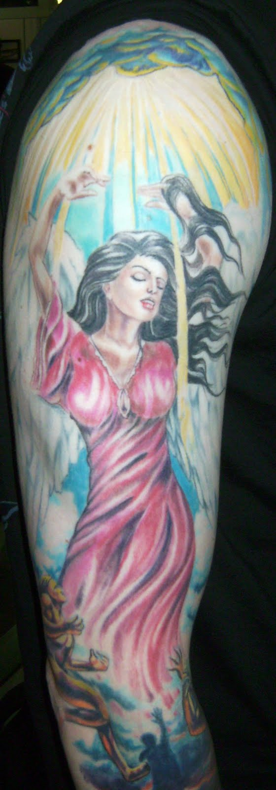 Heaven and Hell Sleeve Tattoo Designs