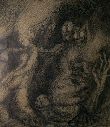 Detalhe do sabat das feiticeiras