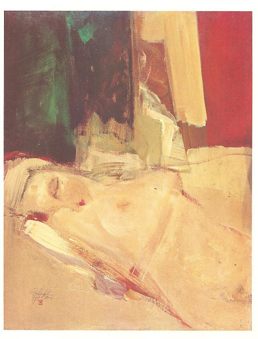 No quarto da Alma  ( pintura a óleo de Guilherme de Faria